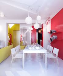 purple dining room ideas dining room colorful small dining room design with red walls also