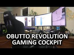 obutto revolution gaming cockpit the ultimate workstation