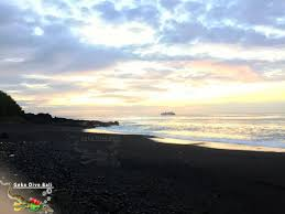where is the black sand beach padang bai village a genuine balinese experience in east bali