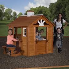 kids backyard discovery summer cottage cedar playhouse imagination