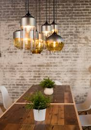 diy dining room light the parallel series features hand blown glass and spun aluminum