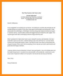 9 sample cover letter for part time job dtn info