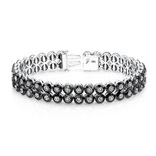 black bracelet with diamonds images The 19 best designs of diamond tennis bracelet mostbeautifulthings jpg