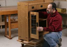 Arts And Crafts Cabinet Doors How To Make Leaded Glass Doors Finewoodworking