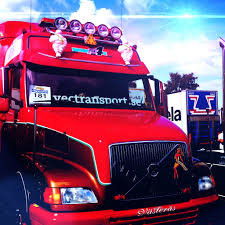 red volvo truck customised volvo nh at the elmia truck show today trucks