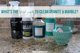 what s the best way to clean granite marble clean