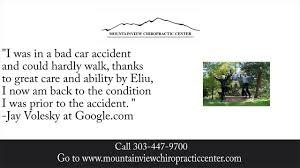 mountainview chiropractic center reviews boulder co