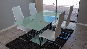 Contemporary Glass Dining Table Review Coaster Home Furnishings Geneva Contemporary Glass Dining
