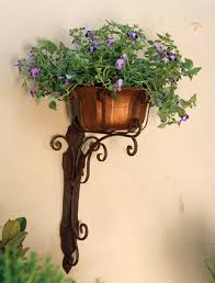 Wrought Iron Wall Planters by Charleston Gardens