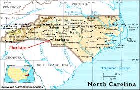 map of virginia and carolina with cities carolina map