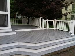 deck rail planters lowes exterior design interesting trex decking with yellow deck railing