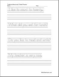 handwriting practice sentences manuscript zb style font