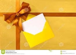 christmas or birthday card gold gift ribbon bow plain gold