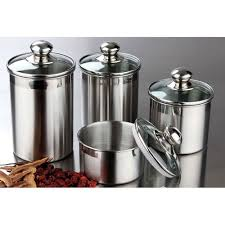 amazoncom canister set stainless steel beautiful canisters for