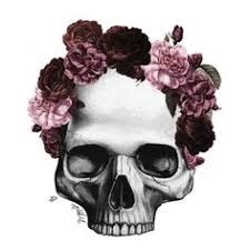 purple flower crown skull ideas for ink
