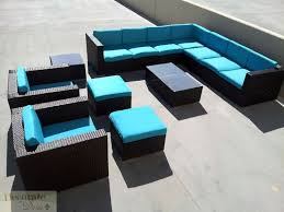 Wicker Patio Furniture San Diego by 11pc Outdoor Patio Furniture Set Pe Wicker Rattan L Shape Sofa