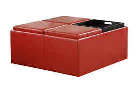 Ottoman Red by Coffee Table Ottomans Benches Vincent Convertible Ottoman Red Vs