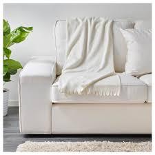 White Ikea Sofa Polarvide Throw Ikea