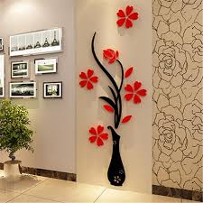 online get cheap wall stickers flower red aliexpresscom blog red wall stickers