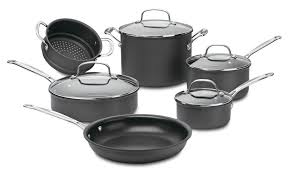 Cuisinart Dishwasher Safe Anodized Cookware 66 10 Sets Chef U0027s Classic Nonstick Hard Anodized Cookware