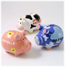 monogrammed piggy banks personalized piggy bank by swibco