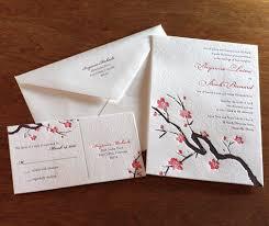 wedding invitations japan japanese cherry blossom wedding invitation invitations by ajalon s