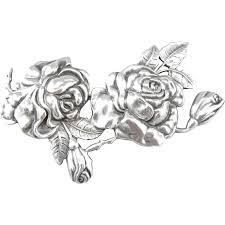 silver roses margot de taxco sterling silver pin from distinctivelycharmed