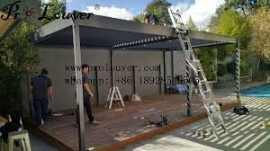 Aluminum Pergola Manufacturers by Pergola Aluminum Roof Motorized Operable Louver Waterproof