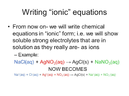 how to write an ionic equation jennarocca