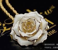 white rose necklace images 19 best rose pendant necklace gift for her images jpg