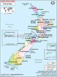 New Zealand On Map New Zealand Lessons Tes Teach
