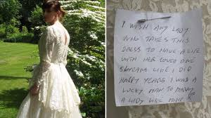wedding dress donations pensioner who donated late s wedding dress with beautiful