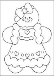 christmas coloring pages gingerbread best images