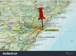 Push Pin Map Push Pin On Map Sydney Australia Stock Photo 132114941 Shutterstock