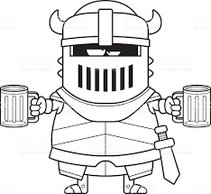beer cartoon black and white drunk cartoon black knight stock vector art 528810691 istock