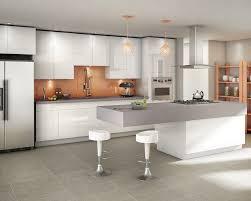 White Metal Kitchen Cabinets Amusing Modern Style Kitchen Featuring White Black Colors Kitchen