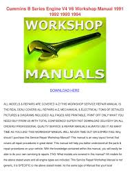 cummins b series engine v4 v6 workshop manual by loretta holquin