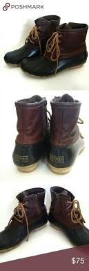 womens sperry duck boots size 9 boots womens sperry top sider saltwater boot brown beautiful