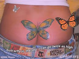 butterfly tattoos on buttocks cheek ideas butterfly on tattoos