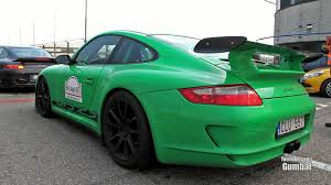 green porsche green porsche 997 gt3 rs loud sounds on the track youtube