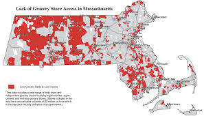 Map Massachusetts Where The Food Deserts Are Commonwealth Magazine