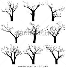 dead tree silhouettes dying black scary stock vector 543891967