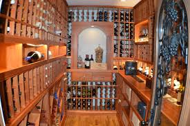 san francisco home custom wine cellar with redwood racking