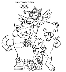 vancouver 2010 mascots coloring pages coloring pages for kids