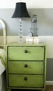pair french small dresser nightstand shab chic grey white with