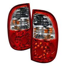 2004 tundra tail light 05 06 toyota tundra red clear lens led tail lights