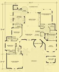 Mediterranean Floor Plan Mediterranean Home Plans For A Single Story 3 Bedroom House