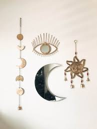 Zen Bedroom Wall Decor All Seeing Eye Moon Phases Wall Hangings And Zodiac