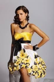fashion trends yellow short prom dress
