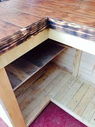 What Is Laminate Flooring Made From Backyard Tiki Bar Made From Pallets Scrap Wood And Laminate